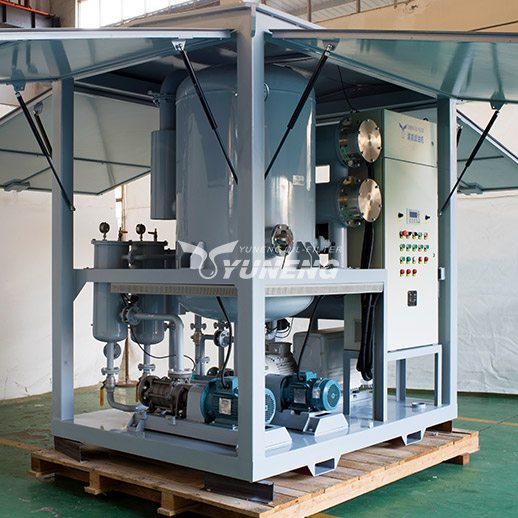 9000L/H ZJA Double-Stage Vacuum Transformer Oil Filtration Machine To Treat Unqualified Transformer Oil